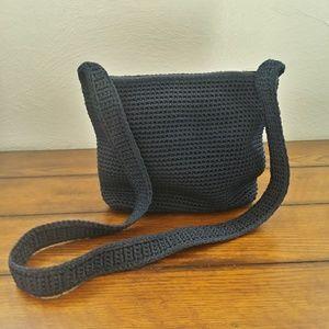 THE SAK Knit BOHO Navy Satchel Purse